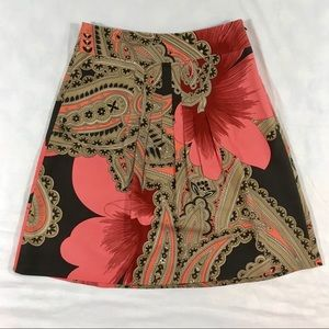 Ann Taylor Paisley and Floral Silk Blend Skirt 2